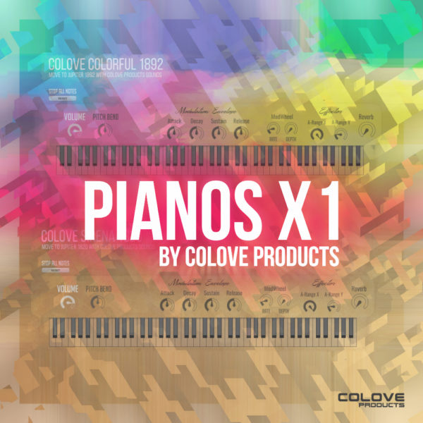 COLOVE Products – Pianos X1 (Colorful and Sirena)