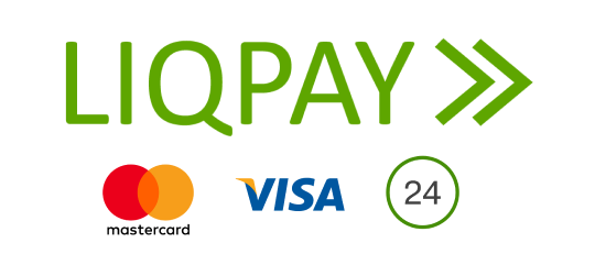 We accept cards with LiqPay